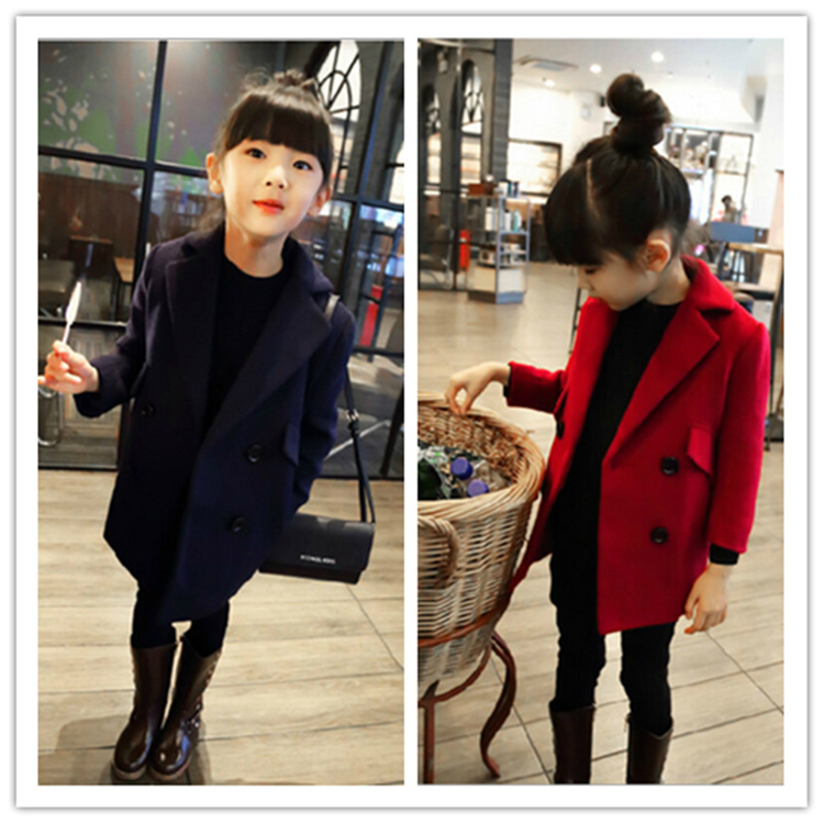 Winter Girls Coats And Jackets Of Cashmere Kids Suit Baby Outerwear Autumn Girls Cardigan Baby Kids  Blouse