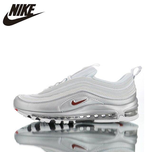 Zapatillas de correr originales oficiales Nike Air Max 97 QS 2017 para hombre, zapatos deportivos al aire libre transpirables genuinos