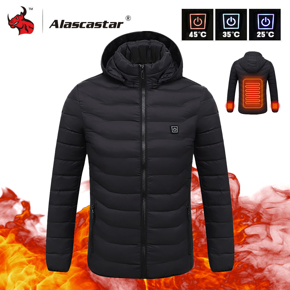 2019 New Motorcycle Jacket Men Autumn Winter USB Infrared Heating Jacket Moto Jacket Thermal Motorbike Riding