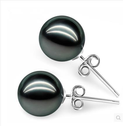 925 silver real natural big Pearl Earrings natural Tahiti Pearl Earrings 925 silver hypoallergenic send mom silver jewelry