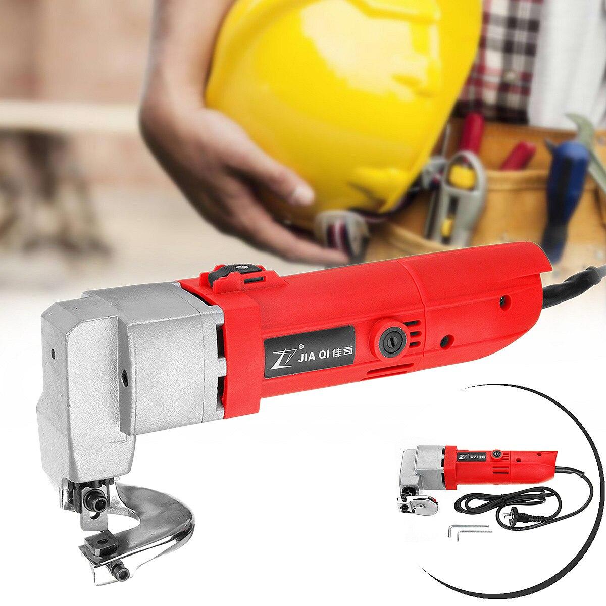 580 W 220 V 50Hz 2000r/min capacidad de corte 2,5mm profesional eléctrica hoja de Metal Shear Snip Tijera cortador herramienta Durable