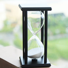 30 Minutes Hourglass Wooden Hour Glass Sand Timer Clock Sandglass Tea Timers Crystal Craft Birthday Gift -20(China)