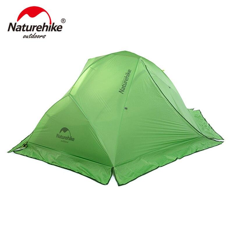 Naturehike Ultra-Léger 2 personne 4 saison camping tente avec jupe pare-neige sports de plein air randonnée double couches tentes avec tapis de sol