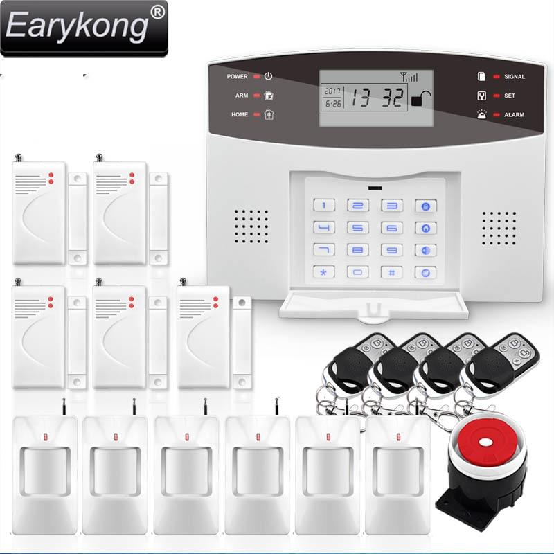 Smart APP Menu LCD Wireless 433MHZ SMS GSM Dual Network Home automation kit Burglar Security Detector Sensor Alarm Systems