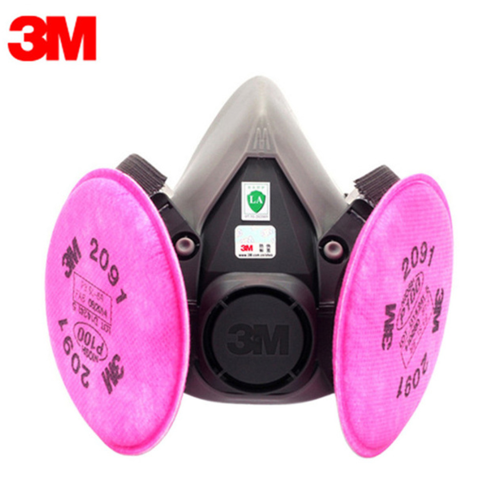 3M KN95 Dust Mask Respirator Headset 6200+2091 Anti-particulate Filters Anti-Dust Mask Anti-fog And Haze PM2.5 Protective Masks 2pcs set lovers mask anti fog and haze anti pm2 5 breathable breathing valve couples masks dust masks pink blue 2pcs gm5217