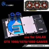 BYKSKI Water Block use for GALAX GTX1060/1070/1070Ti/1080 EX OC GAMER / Full Cover GPU Card Copper Radiator Block KFA2 1070TI
