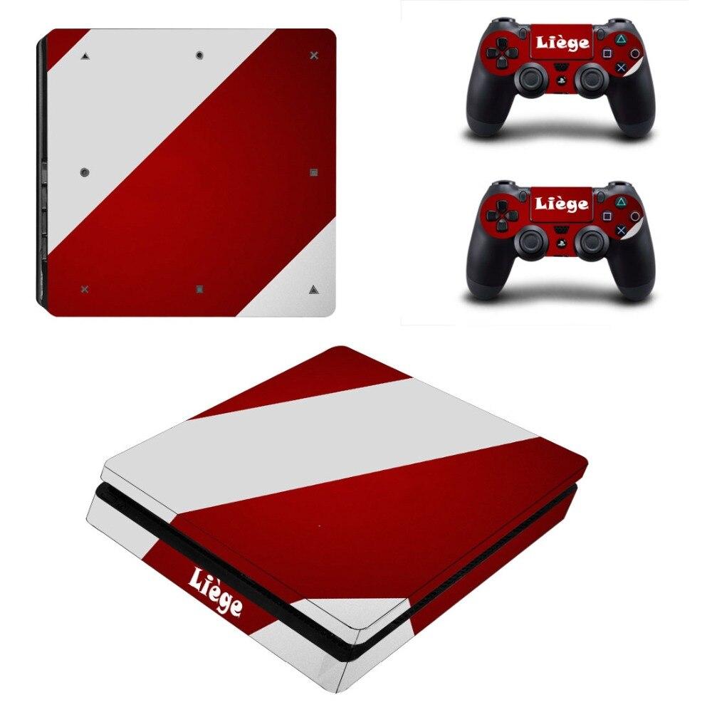 Льеж PS4 тонкий кожи Стикеры наклейка для sony Игровые приставки 4 консоли и 2 контроллера PS4 тонкий наклеиваемые скины винил