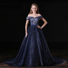 EillyRosia Dark Navy Luxury Dresses for Women Sequins