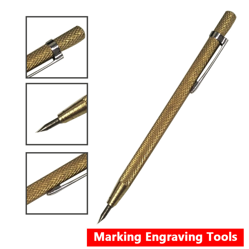 Very Cheap ! 1pc Steel Tip Scriber Pen Marking Engraving Tools Metal Shell Lettering Tool 14.3cm Tip Scriber 2018 High Quality tungsten steel tip scriber pen marking engraving tools metal shell lettering s08 drop ship