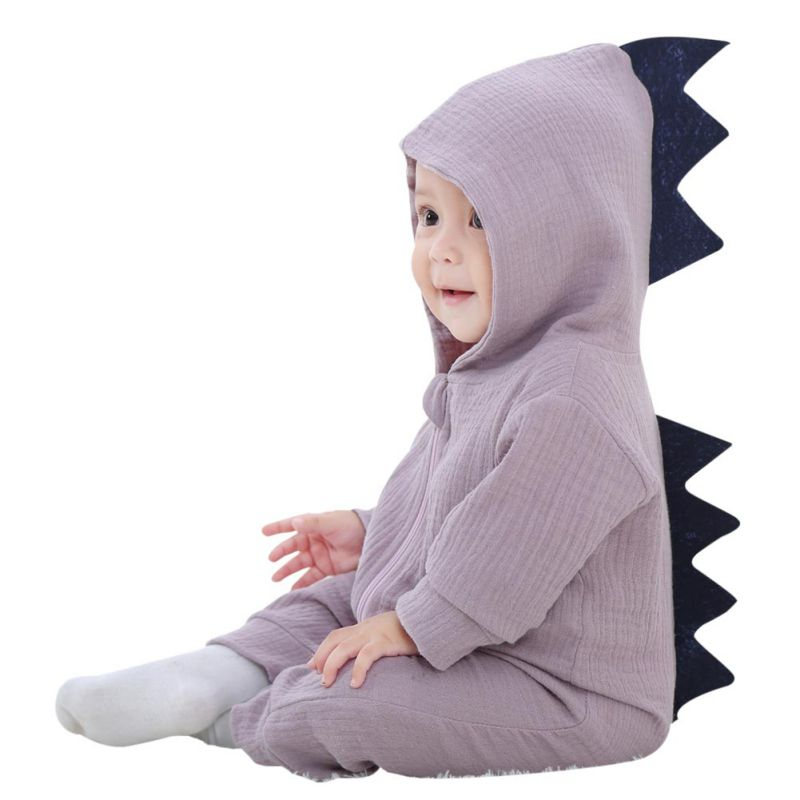 Halloween Infant Baby Clothing Rompers Soft Cotton Cute Dinosaur Long Sleeve Rompers Kids Clothes
