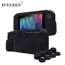 IVYUEEN Thicker Silicone Case for Nintend Switch NS Console Protective Skin Cover with 8 Stick Grip Caps for Joy Con Controller