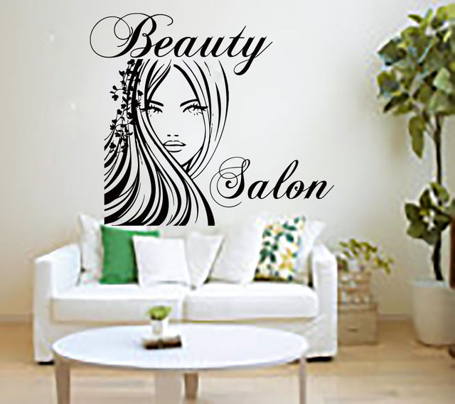beauty salon wall stickers barbershop wall srt decals. Black Bedroom Furniture Sets. Home Design Ideas
