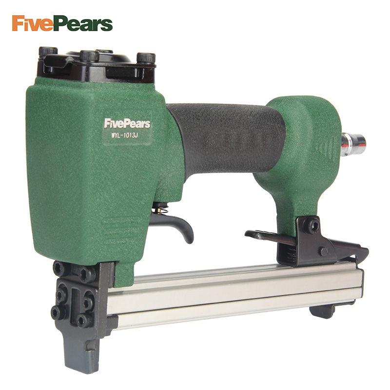 FivePears 1013J Pneumatic Nail Gun Air Stapler Gun Tool Brad Nail Gun U Style for Furniture Wood Sofa woodworking nail gun for width 10mm code nail 10 22mm u air stapler u nail pneumatic air nail gun 0 6mm nial diameter 8mm pu pipe