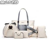 MIWIND 2018 New Women Handbags Fashion Snake PU Leather Tote Female Shoulder Crossbody Messenger Bag Clutch