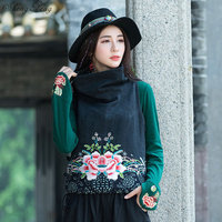 Chinese traditional tang suit chinese style clothing qipao top oriental female cheongsam traditional chinese top (Only vest)Q318