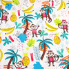 140X100cm White Background Moneky Banana Pineapple Polyester Cotton Fabric Baby Boy Cloth Sewing Hometextile Patchwork AFCK390