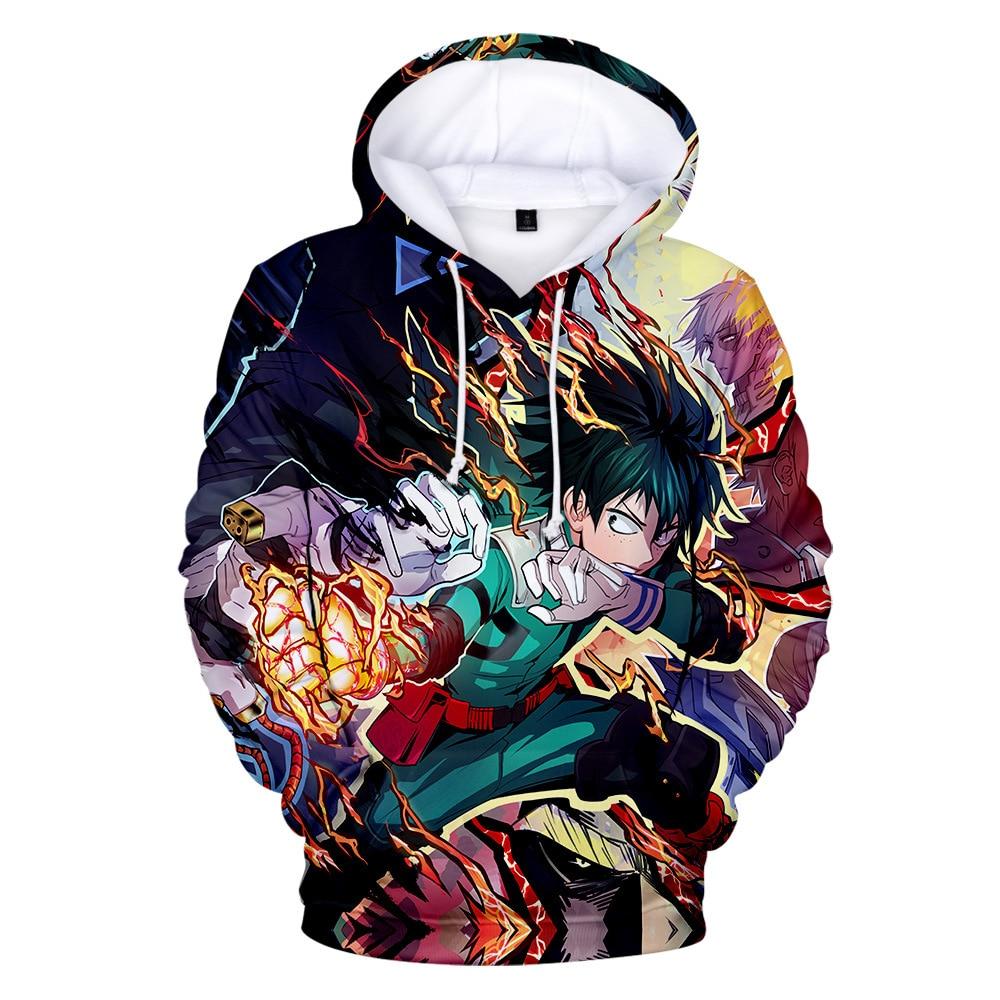 My Hero Academia 3D Printed Costume Hoodies Hooded Anime Cosplay Sweatshirts Casual Tops Hip Hop Harajuku Anime Hoodie in Hoodies amp Sweatshirts from Men 39 s Clothing