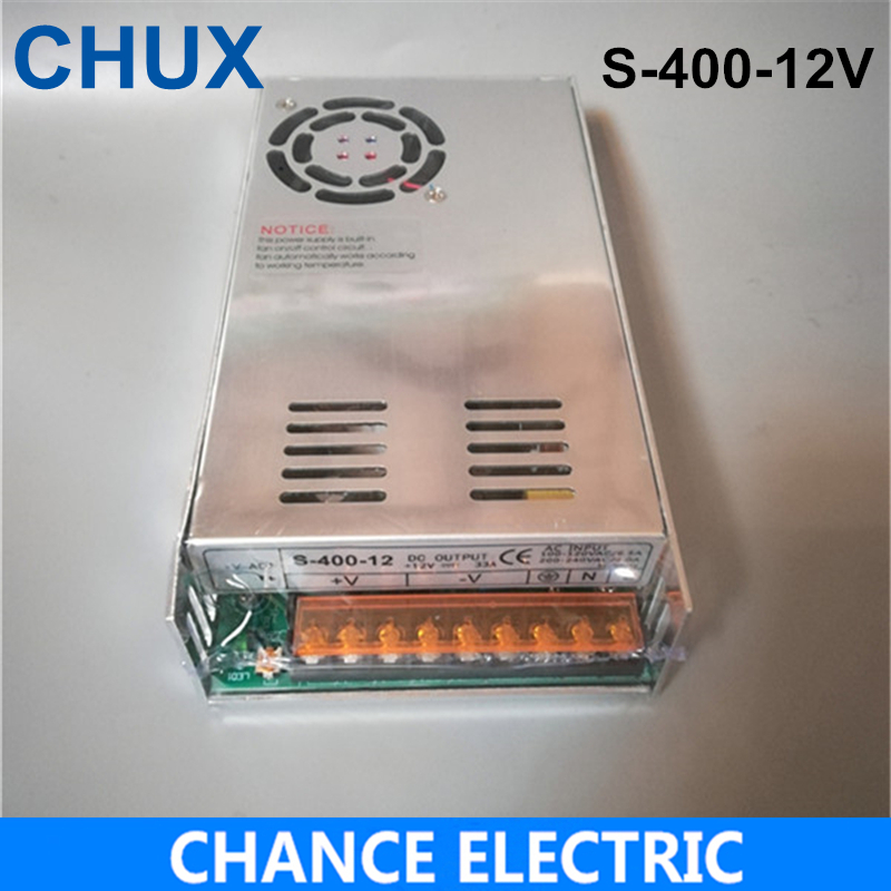 (S-400-12) IP20 Constant voltage 400W AC to DC 12V Switching power supply 12v dc power supply 400w meanwell 12v 350w ul certificated nes series switching power supply 85 264v ac to 12v dc