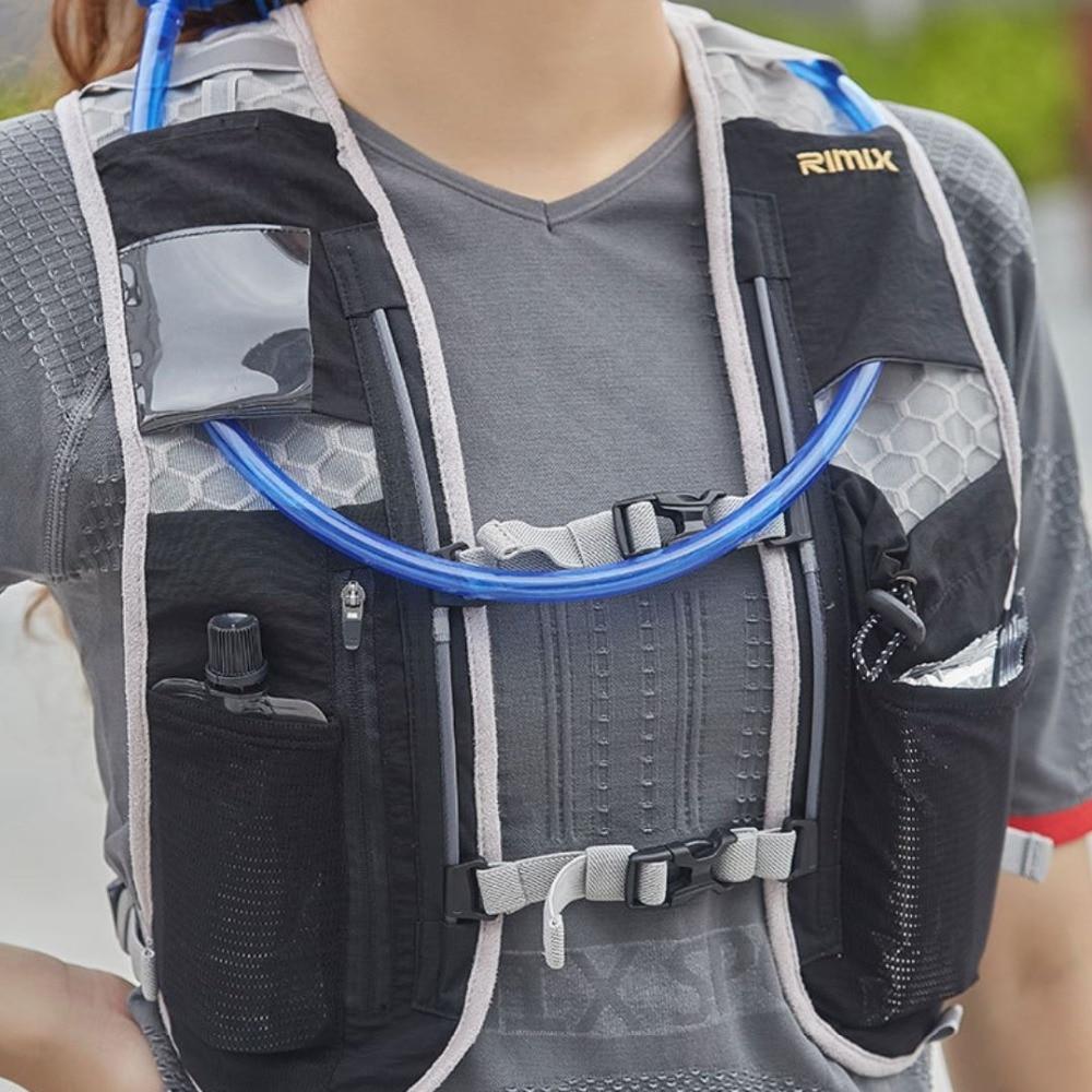 RIMIX Multi Function Lightweight Running Hydration Backpack Outdoor Hiking Trail Bag Sport Vest Pack For Marathon Joggings Climb