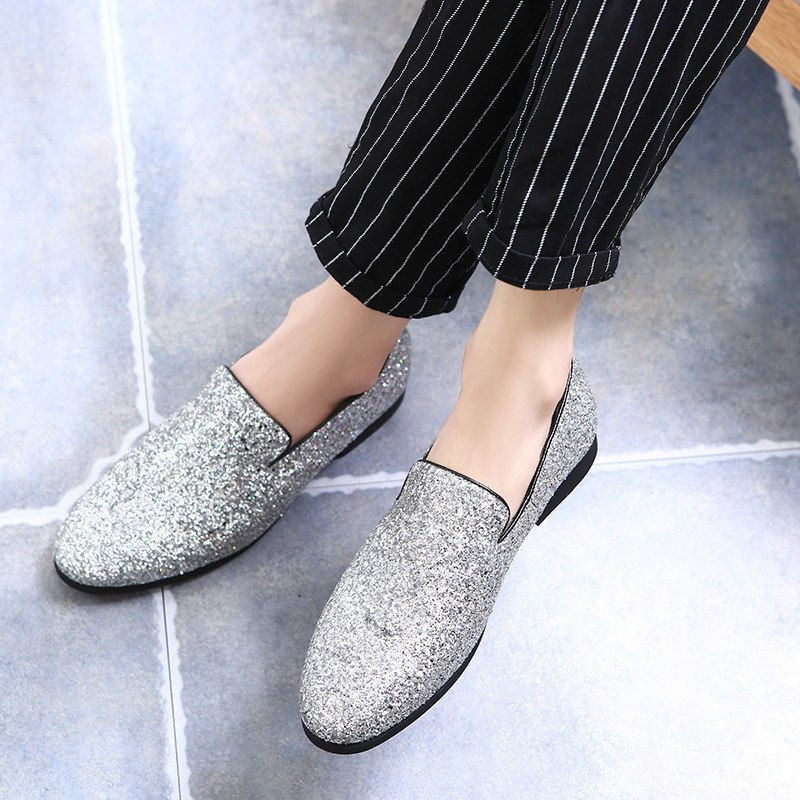 2019 fashion Leather Doug Casual Flat Slip-On Driver Dress Loafers Pointed Toe Moccasin Wedding Shoes