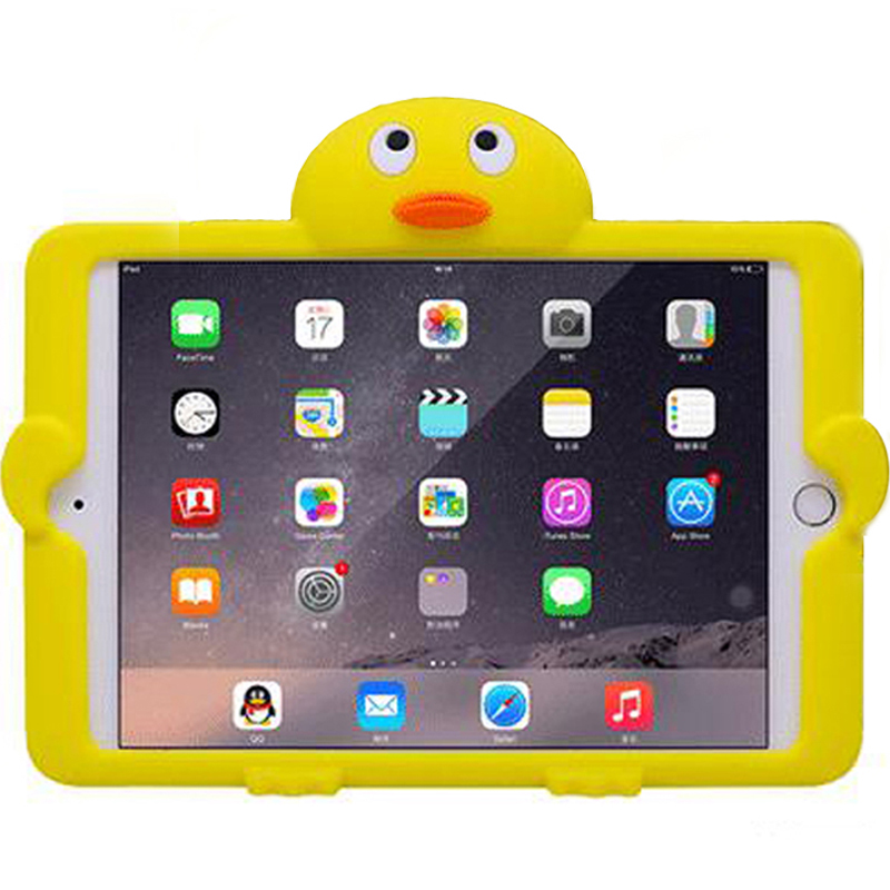 Case For iPad mini 1 2 3 4 Cute Cartoon Penguin Kids Universal Shockproof Silicone Protective Cover with Self Stand in Tablets e Books Case from Computer Office