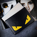 Nueva moda de cuero de la pu del caso del tirón para apple ipad mini 4 inteligente caso de la cubierta para ipad mini 1 2 3 3d ojos de la historieta de cuero caso + film