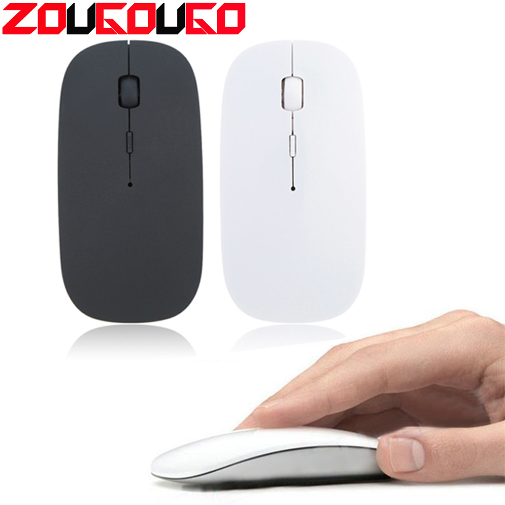 c03697f78b3 Ultra Thin 2.4GHz Wireless Optical Mouse Computer PC Mice with USB Adapter  Mause for all
