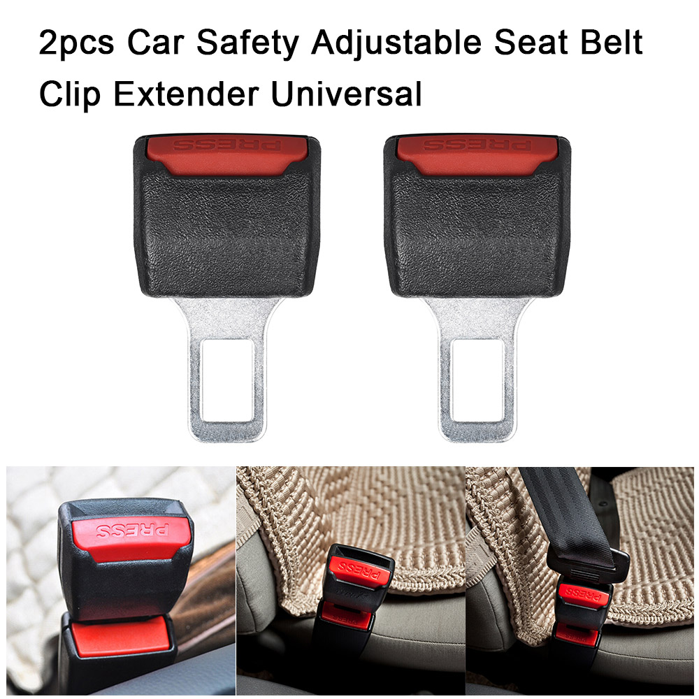 2pcs Car Safety Adjustable Seat Belt Clip Extender Universal Stopper Buckle Plastic Clip Useful Seat Car Styling