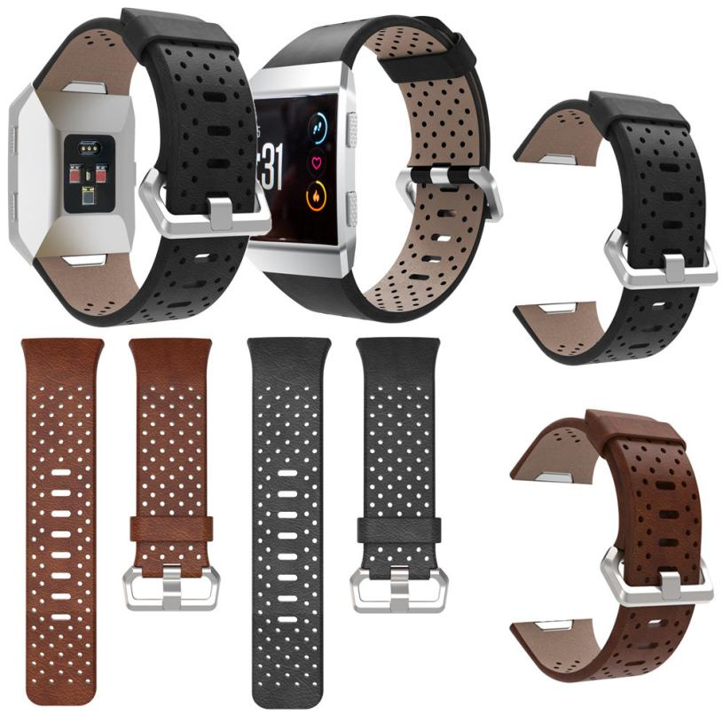2017 Replacement Sport Band For Fitbit Ionic Perforated Leather Accessory Band Bracelet Watchband drop shipping sep27 wristband2017 Replacement Sport Band For Fitbit Ionic Perforated Leather Accessory Band Bracelet Watchband drop shipping sep27 wristband