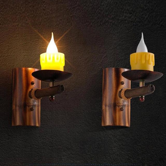 Nordic Vintage Wandleuchte Retro Kerze Wandlampen Archaistic ...