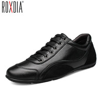 ROXDIA Genuine Leather First Grade Cow Leather Men S Flats Spring Autumn Men Casual Flat Man