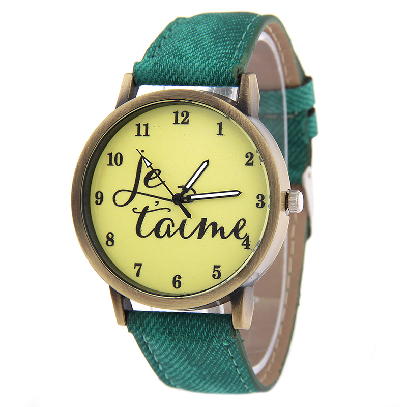 Je T'a Fashion Casual Women's Quartz Wristwatch Stripe Canvas Women's Bracelet Watch Children's Watch Relogio Feminino Girl Gift