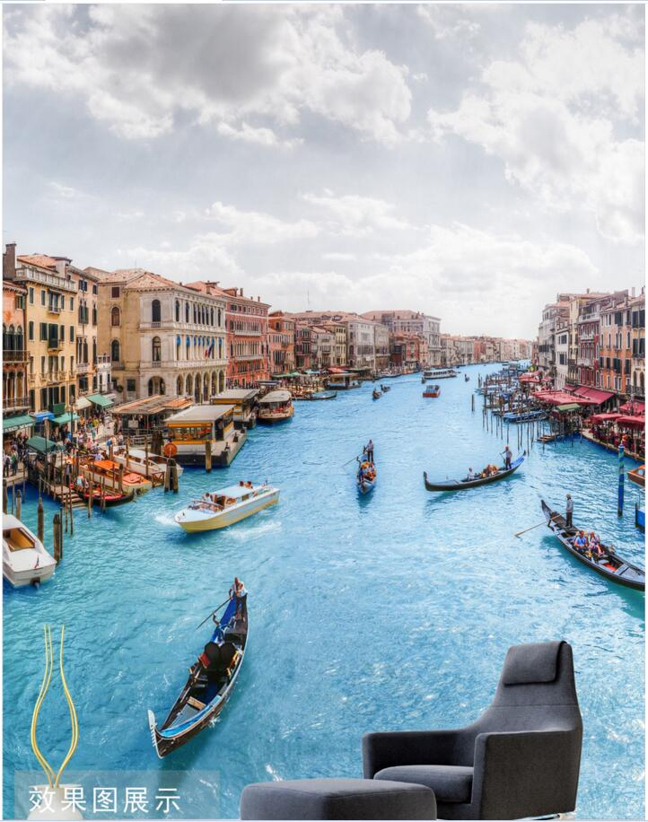 Custom photo 3d wallpaper European architecture of the Venetian water decoration painting 3d wall murals wallpaper for walls 3 d