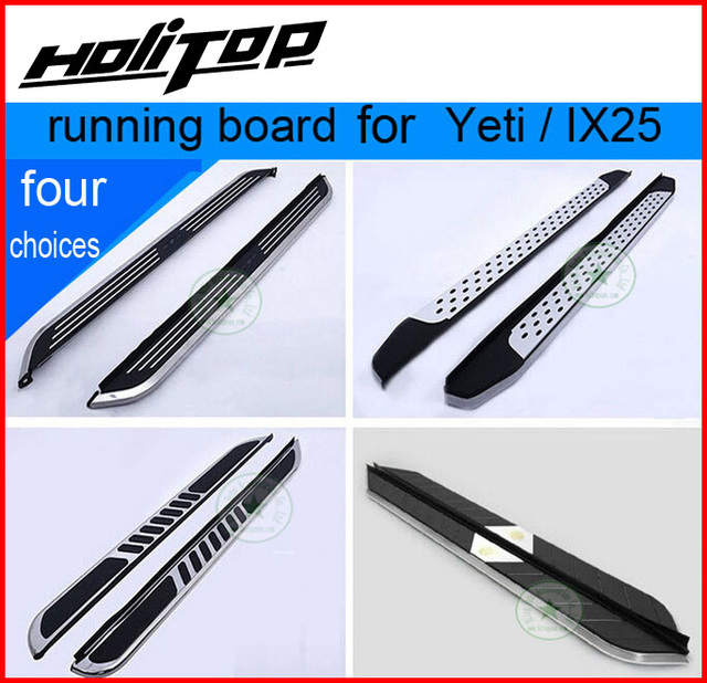 US $159 46 33% OFF|hot side step bar running board for Skoda YETI for  Hyundai IX25,hot sale in China,four models (best) in China,realiable  quality-in