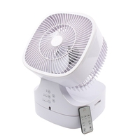 DMWD Newest Foldable Remote Control Electric Fan Home Desktop Fan Air Circulating Fan For Office Shake Head Top Quality 220V