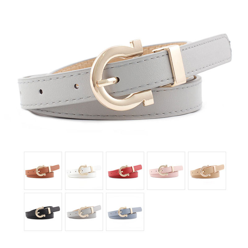 2019 Korea NEWWild Fashion Candy Color Decorative Belts Women's Personality Creative Pants Belt Luxury Belt  Pants  Harajuku