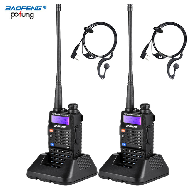2 PCS Baofeng UV 5RC Walkie Talkie Dual Double Band Ham VHF UHF Radio Station Transceiver Boafeng Communicator Walkie Talkie PTT