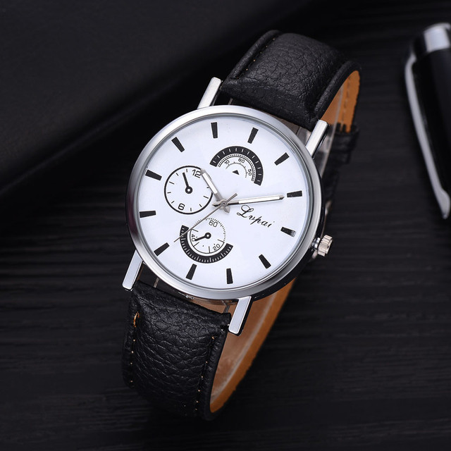 Lvpai Brand Women Bracelet Watch Fashion Rose Gold Flowers Leather Simple Women