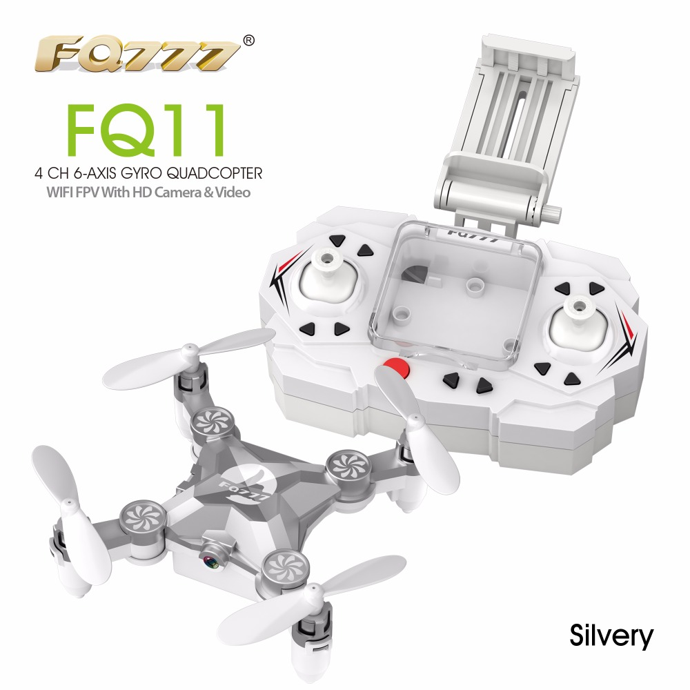 WIFI Drone FQ777 FQ11W 2.4G 4CH 6-Axis Gyro WIFI FPV Mini Pocket Drone Rotatable RC Quadcopter W/ 0.3MP Camera VS Cheerson CX-10 10pcs lot cx 10 3 7v 100mah battery for cheerson cx 10a fq777 124 wltoys v272 v282 v292 hubsan q4 h111 mini rc quadcopter parts