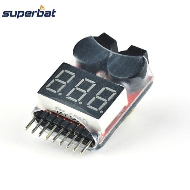 Superbat 1 S-8 S li-po batterie au Lithium testeur de tension compteur indicateur de contrôle avec avertisseur sonore alarme 40*25*11mm