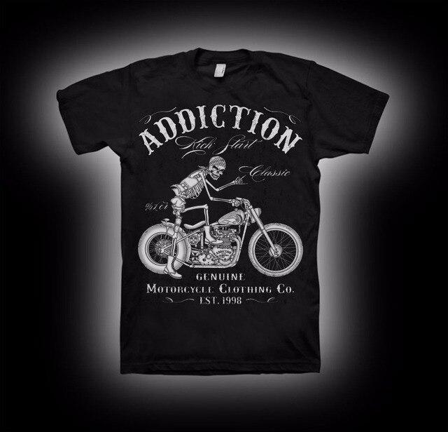 2019 nuevo verano algodón diseño fresco camisetas 3D camiseta de motociclista arranque V Twin Vintage marco rígido camiseta