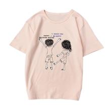 Liva Girl Summer Solid Cartoon Printed Women T-shirt Casual Lady Top Tees Female T shirt for girl недорого