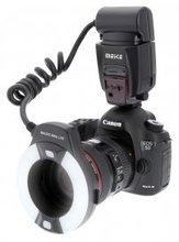 Meike TTL МК-14EXT Макро кольцевой вспышки для Canon E-TTL TTL с LED вспомогательная лампочка автофокусировки для Canon 5 5DIII 5DII 7D 700D 650D 600D 760D 6D