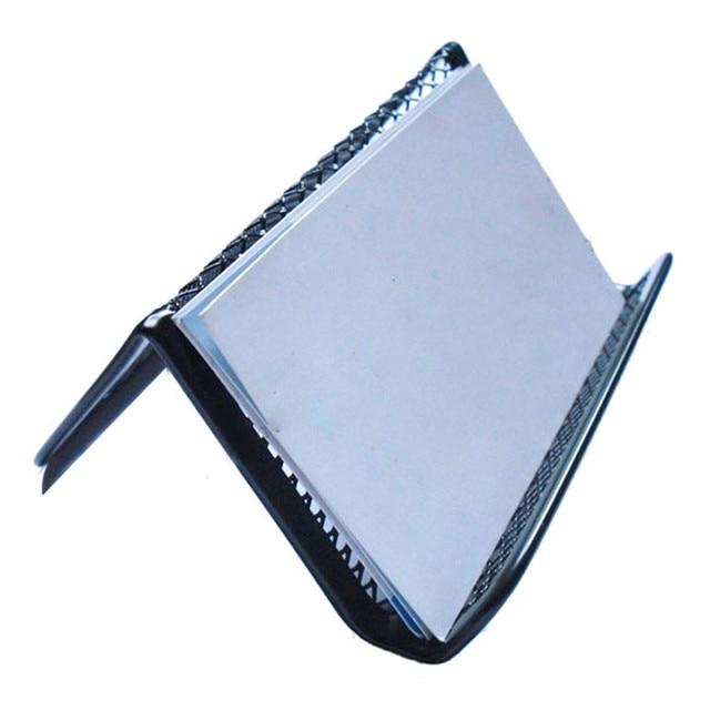 Stylish black steel mesh business card holder office supplies stylish black steel mesh business card holder office supplies monederos para mujer business card holder colourmoves