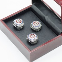3PCS Set Replica Championship Rings BRYANT RIZZO ZOBRIST 2016 Chicago Cubs Championship Ring Set