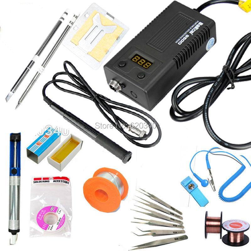 BAKON NEW Digital Soldering Station Portable Soldering Iron BGA Solder Station Set Kit 220V 75W T13-I T13-K