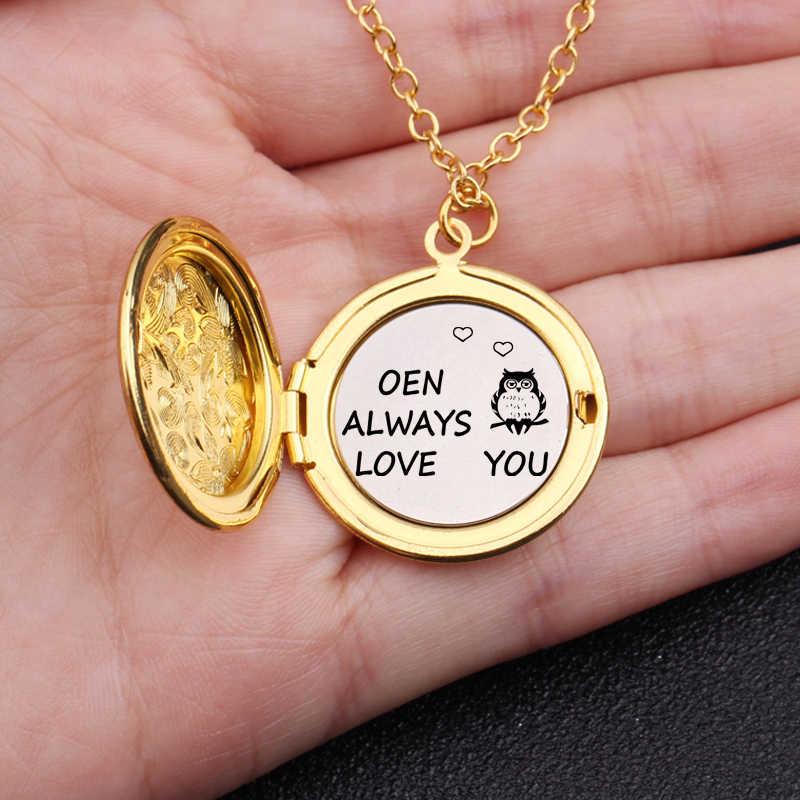 Terukir Other Selalu Cinta Anda Hadiah untuk Pecinta Pasangan Pacar Pacar Mode Kalung Terbuka Liontin Sweter Rantai Perhiasan
