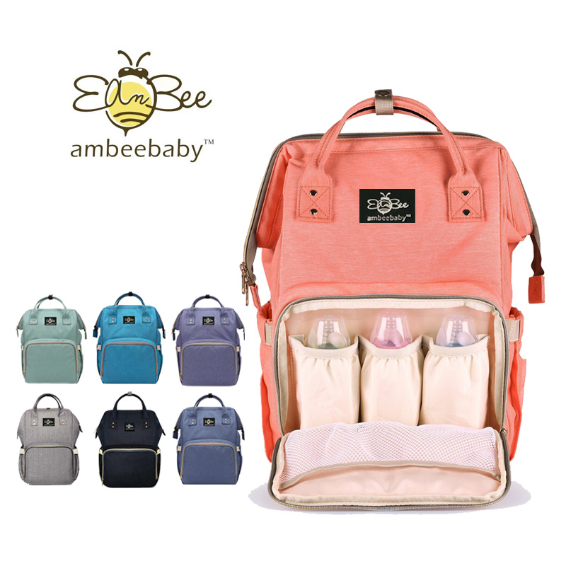 buy ambeebaby diaper bag backpack for baby care multi functional baby nappy. Black Bedroom Furniture Sets. Home Design Ideas