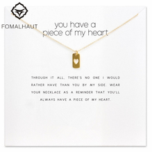 Sparkling you have a piece of my heart, hear Pendant necklace Clavicle Chains Necklace Women FOMALHAUT Jewelry