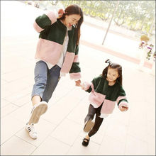 Furry 2018 Girl Boy Autumn Winter Faux Fur Imitation Fur Coat Children Baby Clothes Kid Thick Patchwork Baseball Outerwear N349(China)